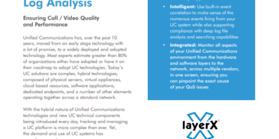 ScienceLogic & layerX: Unified Communications Monitoring with Log Analysis