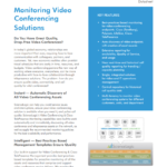 Monitoring Video Conferencing Solutions