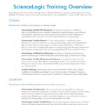 Product Training: ScienceLogic Training Overview