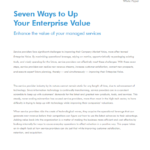 Enhance the Value of Your Managed Services in 7 Steps