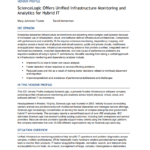 IDC Vendor Profile: ScienceLogic Offers Unified Infrastructure Monitoring and  Analytics for Hybrid IT