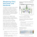 Monitoring Citrix XenCenter & XenServer