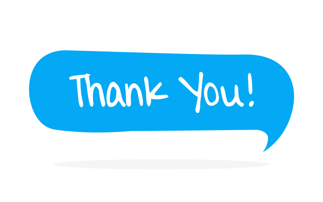 A Quick Note of Thanks