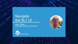 Navigate the SL1 UI